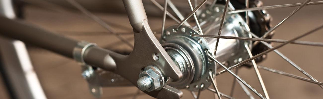 Zoom sur le frein vélo à rétropédalage