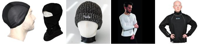 Bonnet et vêtements contre le froid à vélo