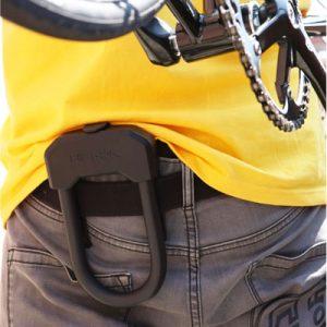 Antivol vélo en U Hiplok D avec fixation à la ceinture intégrée