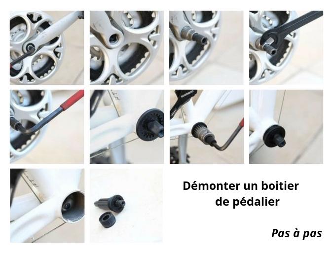 schéma pour démonter boîtier de pédalier