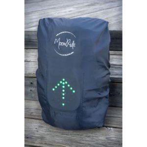 Housse de pluie signalisation LED pour sac à dos vélo - Moonride