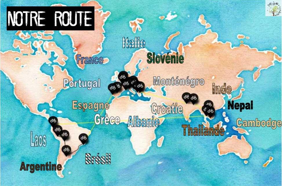 Détails du tour du monde à vélo de Pigeons Voyageurs