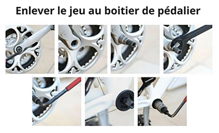 Entretien du vélo : enlever le jeu au boitier de pédalier