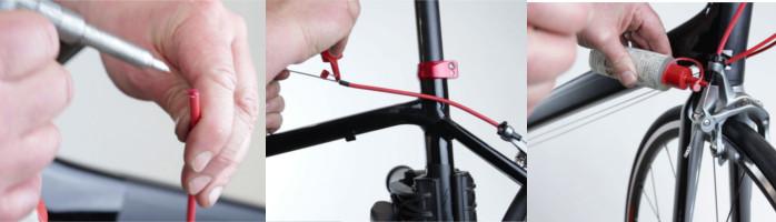Etapes pour lubrifier une gaine de vélo