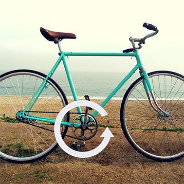 Schéma vélo avec boitier de pédalier à tourner