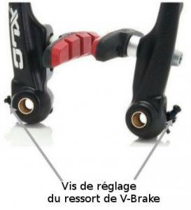 Vis de réglage du ressort de V-Brake