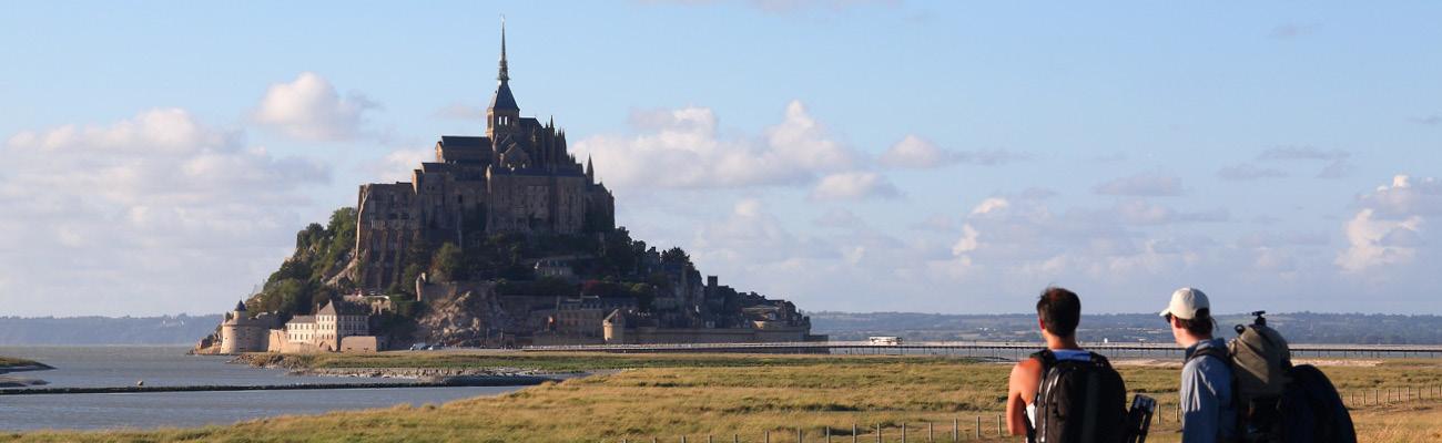 Découvrir l'EuroVelo 4 : balade à vélo dans la baie du Mont-Saint-Michel