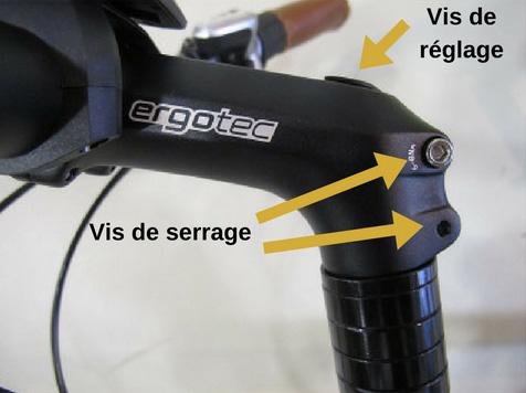 Les vis de réglage et serrage pour direction vélo
