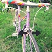 Jeu dans la direction du vélo
