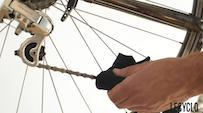 Chiffon pour nettoyage transmission du vélo