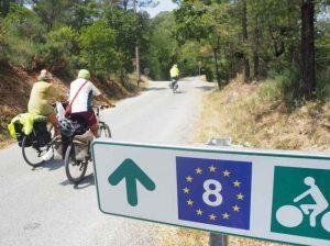 Parcours en forêt le long de l' EuroVelo