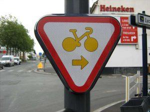 Panneau de signalisation vélo