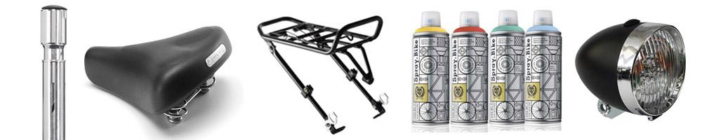 Accessoires pour moderniser un vélo vintage