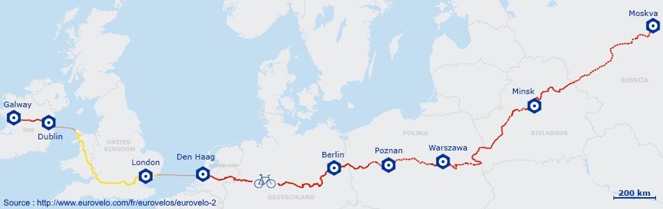 Itinéraire de la véloroute 2