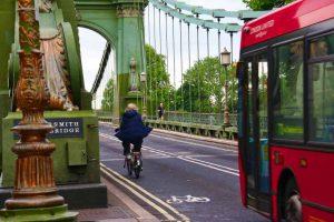 Piste cyclable dans Londres à vélo
