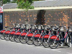 Vélos en libre service à Londres : sanatander cycles