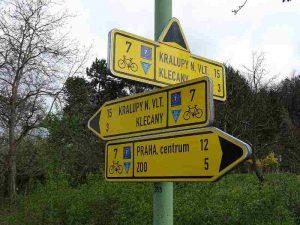 Signalisation EuroVelo 7 en République Tchèque