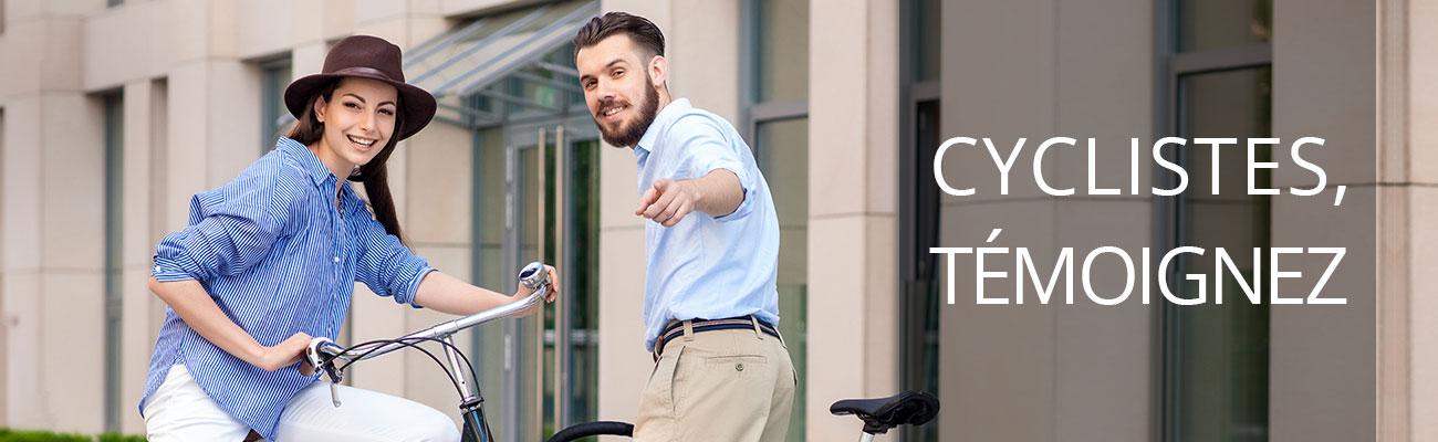Appel à témoignages de cyclistes urbains et cyclotouristes