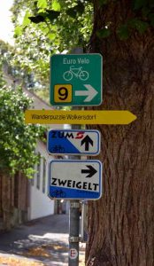 Signalisation sur l'EuroVelo 9