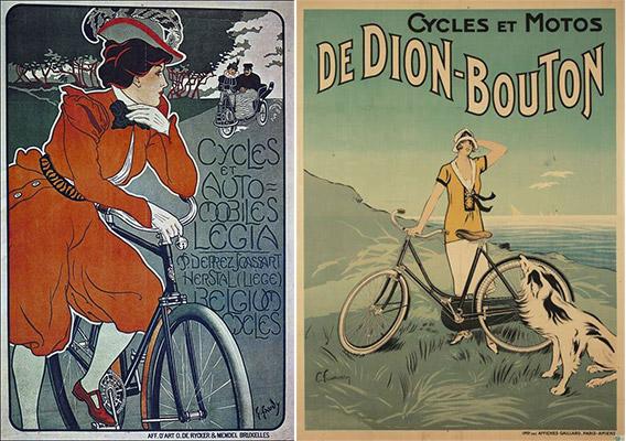 Publicités des années 50 pour les bicyclettes