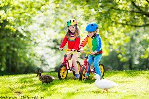 Draisiennes pour l'éveil des enfants à vélo