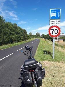 Panneau voiture vélo, partageons la route
