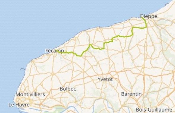 Itinéraire de la Véloroute du Lin