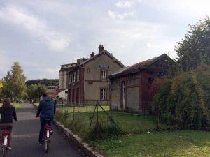 L'ancienne gare de Valmont sur la véloroute