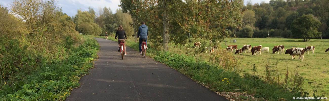 Promenade à vélo entre Fécamp et Dieppe sur la véloroute du Lin