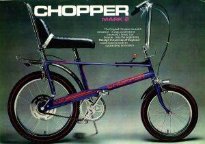 Publicité pour le Raleigh Chooper Mark 2 dans les années 1970