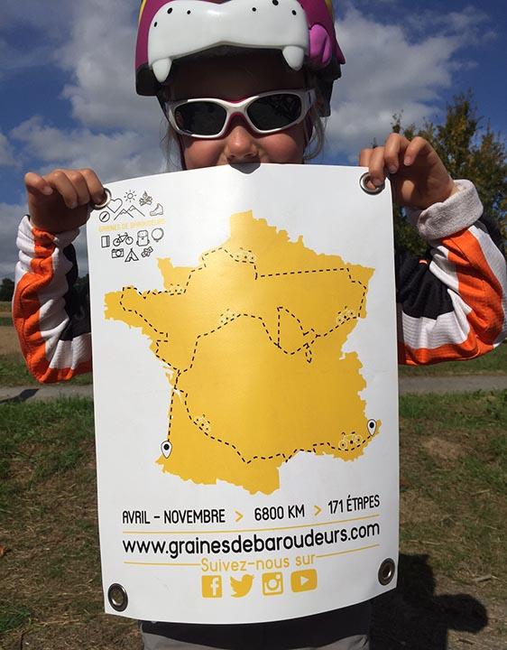 Le tour de France à vélo de Graines de Baroudeurs