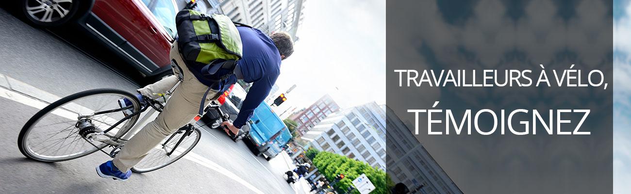 Appel à témoignages de travailleurs à vélo