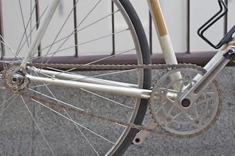 Zoom sur la chaine d'un vélo