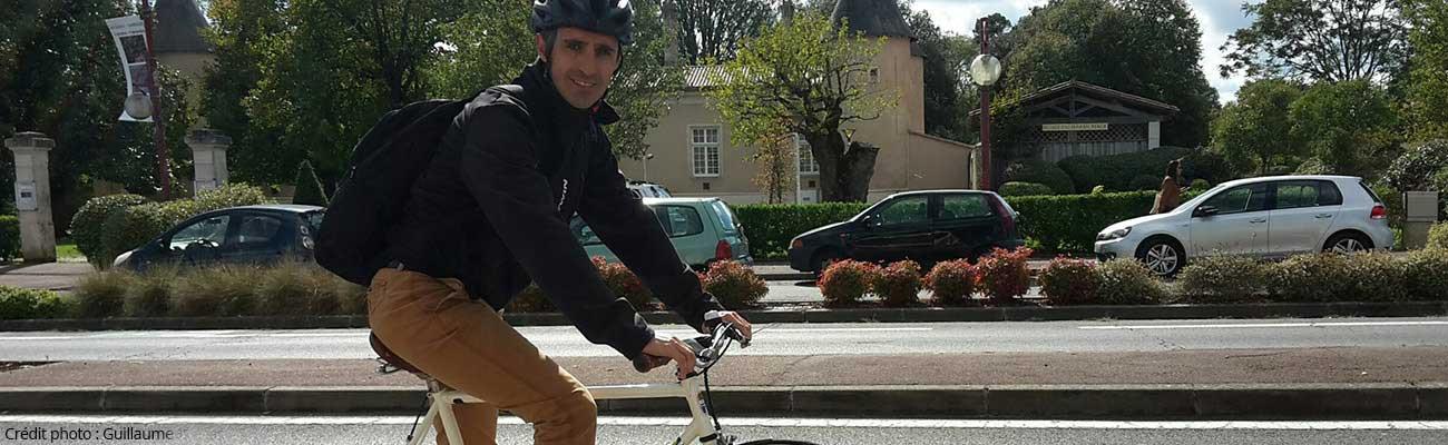 Guillaume, vélotafeur convaincu d'Eysines à Bordeaux