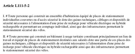 Texte de loi sur le local à vélo dans un syndic de copropriété