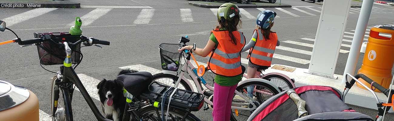 Mélanie : j'amène mes filles à l'école à vélo tous les jours