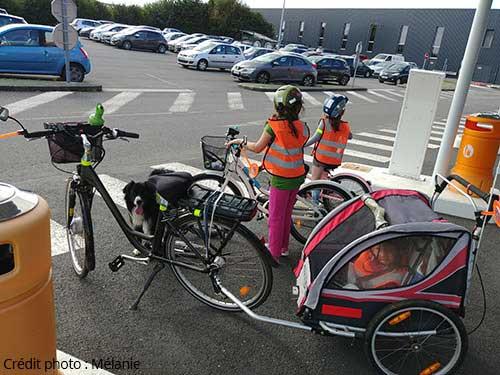 Amener ses enfants à l'école à vélo