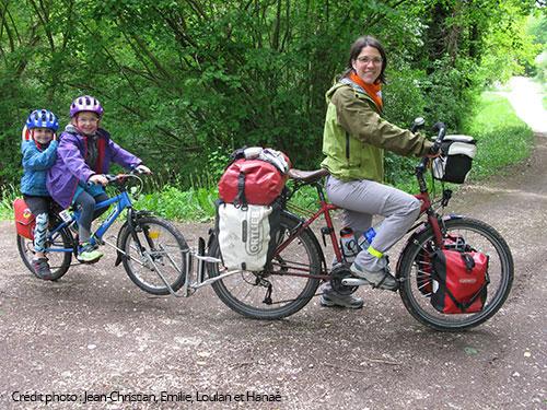 vacances à vélo en famille avec le follow me