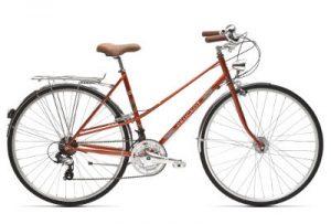 Vélo Peugeot de ville LC01 D7+ avec 21 vitesses couleur orange
