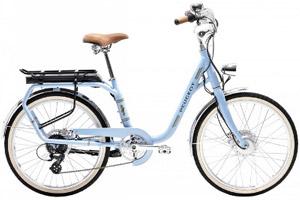 Vélo électrique de ville bleu vintage Legend Peugeot eLC01