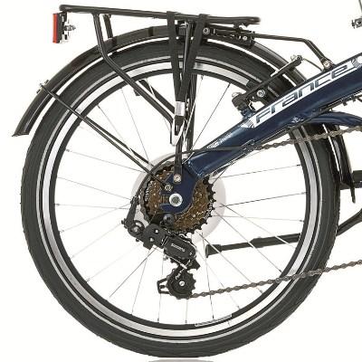 Porte bagages sur un vélo pliant : oeillets de fixation