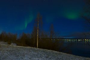 Aurores boréales au pays du Père-Noël à Rovaniemi
