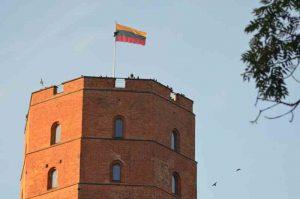 La tour du château de Gediminas à Vilnius