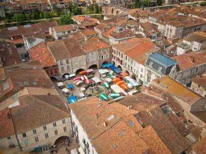 La bastide royale quadrillée de Villeneuve sur Lot