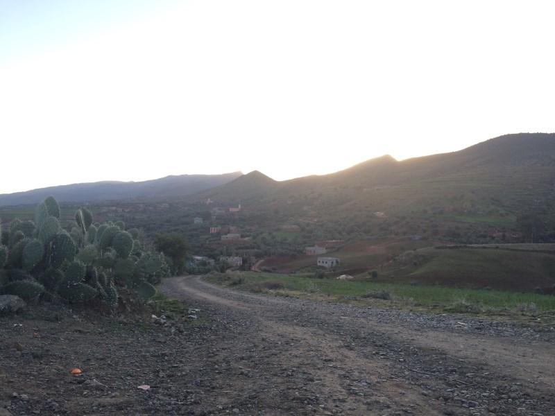 Piste de VTT dans l'Atlas à quelques kilomètres de Marrakech