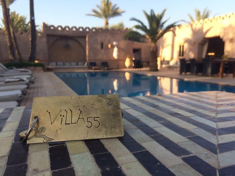 Vélo Maroc vous accueille à la Villa 55 en plein coeur de la palmeraie de Marrakech