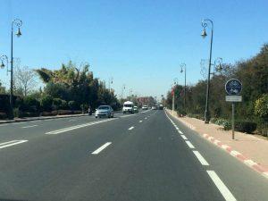 Les pistes cyclables sontmonnaie courante sur les routes de Marrakech