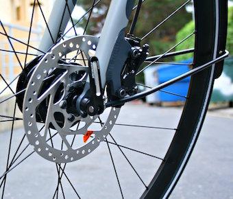 Frein à disque sur un vélo