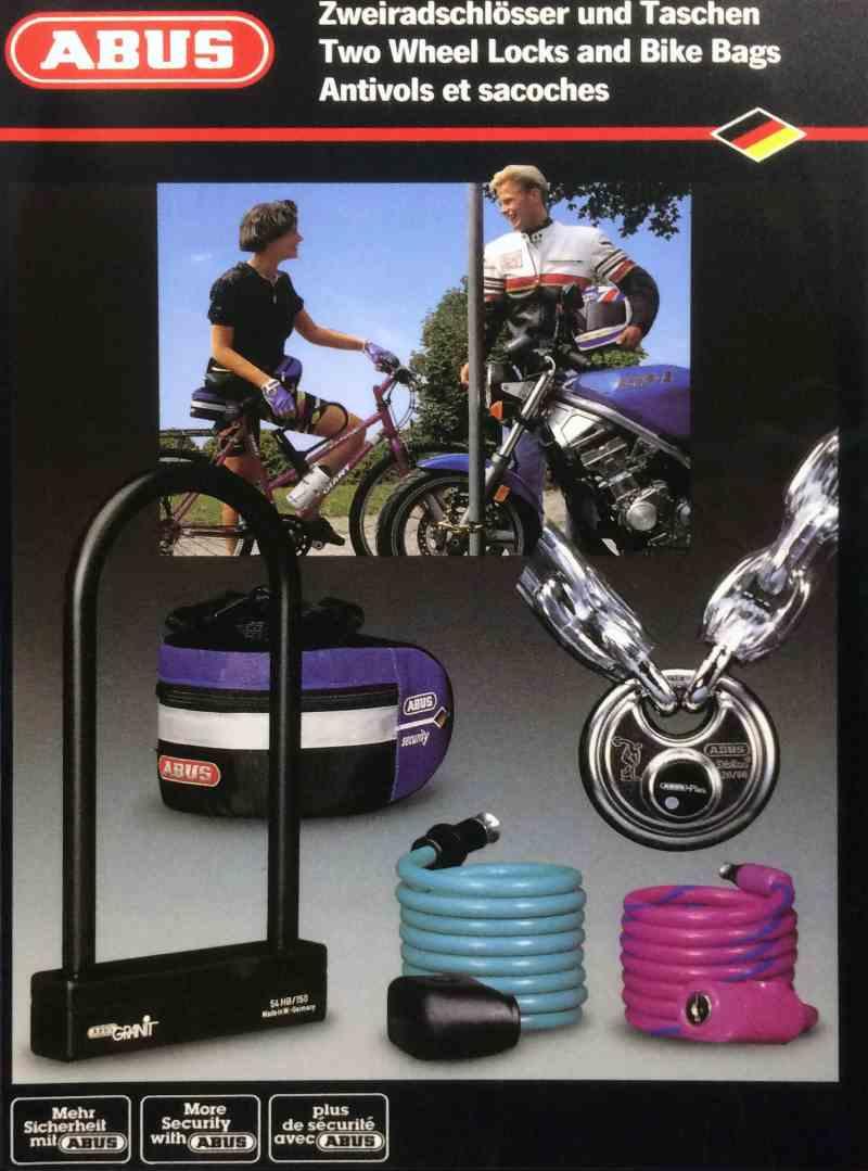Publicité pour un antivols vélo Abus