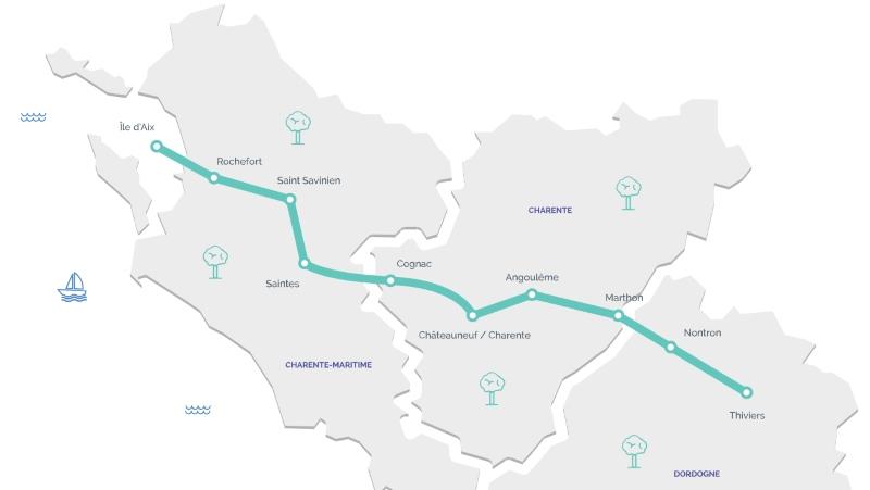 Carte de l'itinéraire de la Flow Vélo®